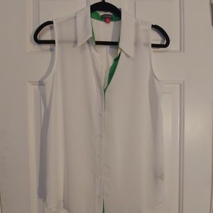 Vince Camuto Sleeveless Button up Blouse S